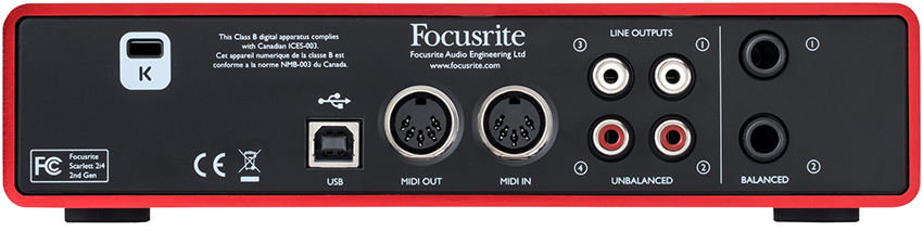 کارت صدا فوکوس رایت Focusrite Scarlett 2i4 G2 USB 2.0 Audio Interface