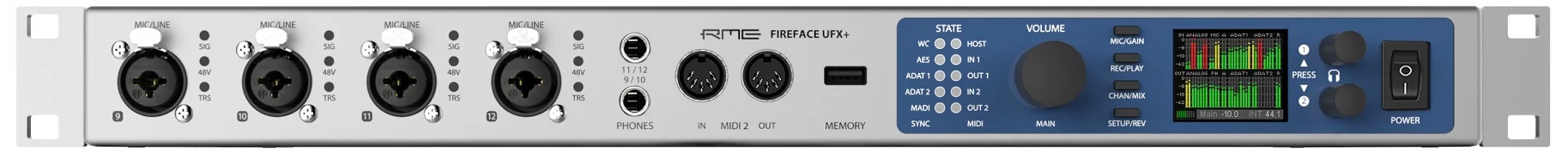 کارت صدا آر ام ای RME Fireface UFX PLUS Thunderbolt Audio Interface